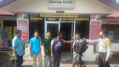 Polsek Manyak Payed Berhasil Amankan  Pencuri Kambing