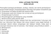 Soal Latihan Tes PPPK Guru Kelas (SD)