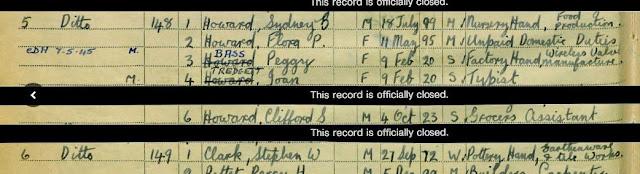 1939 National Registration - Waltham Holy Cross, Essex - Flora Howard
