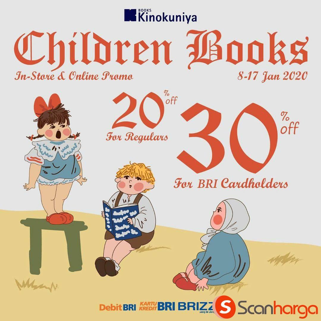 Promo Kinokuniya Special Children Books Disc. 20% & Up 30% off for BRI cardholders