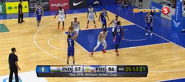 Almond Vosotros Scores 11 Straight Fourth-quarter Points vs. India (VIDEO) Jones Cup 2017