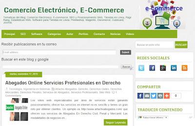 Blog de Comercio Electrónico, E-Commerce