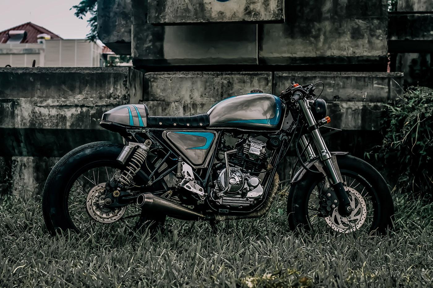motor custom ban klasik yamaha scorpio