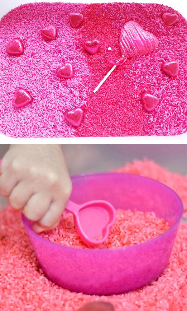 Play rice recipes, crafts, and activities for kids.  Tons of ideas! #dyedriceactivities #howtodyerice #sensoryactivities #growingajeweledrose #activitiesforkids