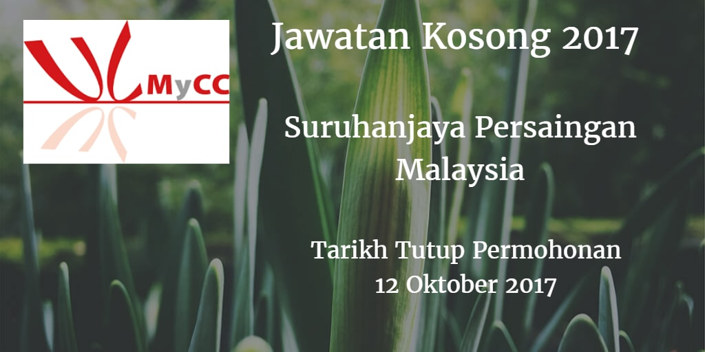 Jawatan Kosong MyCC 12 Oktober 2017