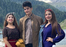 Dananeer Mobeen with her siblings