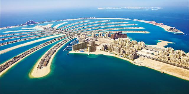 La famosa palmera de Dubai