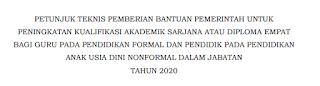 Informasi Banpem S1 Guru - Direktorat P3GTK Kemdikbud 2020