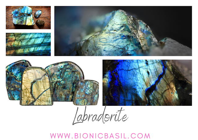 Colouring with Cats ©BionicBasil® Crystal of The Week - Labradorite