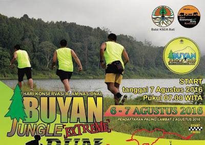 Buyan Jungle Extreme Run 10K 2016 Bali Danau Buyan Danau Tamblingan Hari Konservasi Alam Nasional