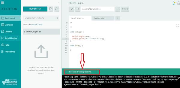 IDE verificação de envio de código