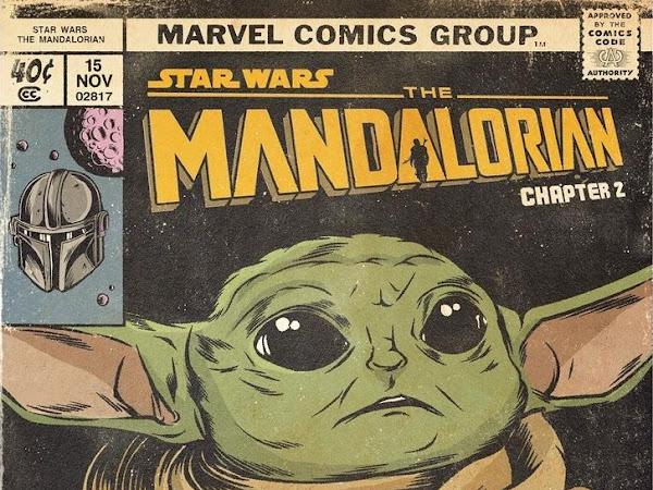 Ilustrações: cada episódio de The Mandalorian transformado em capa de HQ estilo retrô