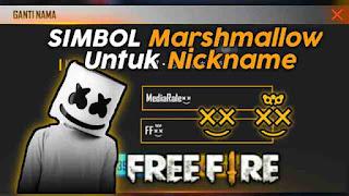 Simbol marshmallow nickname ff