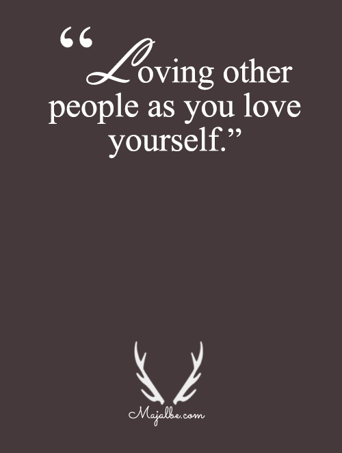 Same As You Love Yourself