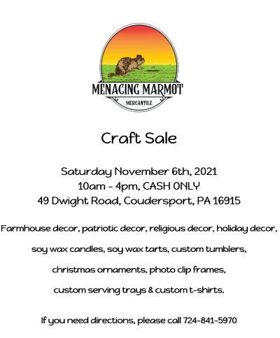 11-6 Craft sale In Coudersport