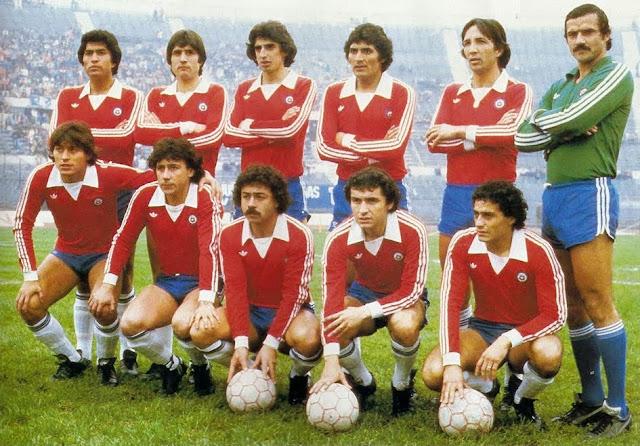 Formación de Chile ante España, amistoso disputado el 5 de julio de 1981