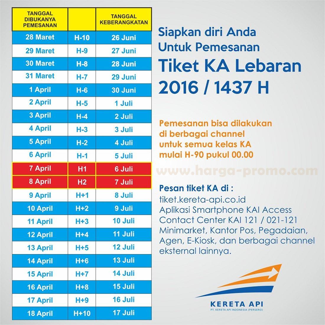 Tiket kereta api lebaran 2016 sulit dipesan