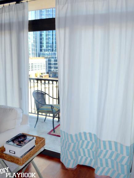 Herringbone striped curtains