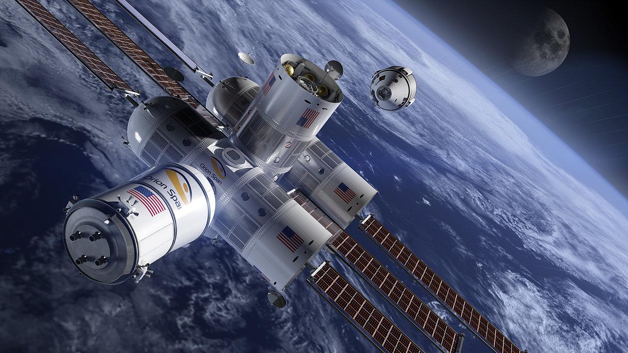 Montagem 3D da Estação Aurora