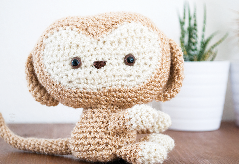 Monkey amigurumi crochet