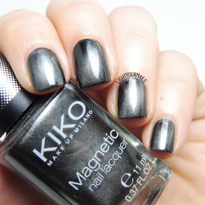 Smalto magnetico grigio Kiko 707 magnetic grey nail polish