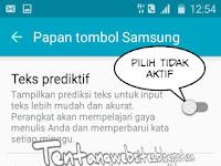 Cara menonaktifkan prediksi teks di Samsung
