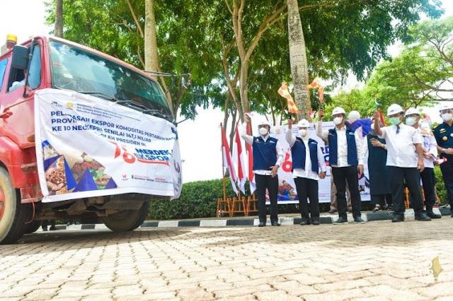 Wagub Kepri bersama Kepala BP Batam Melepas Ekspor Pertanian Senilai Rp 147 Miliar,- ke Sepuluh Negara
