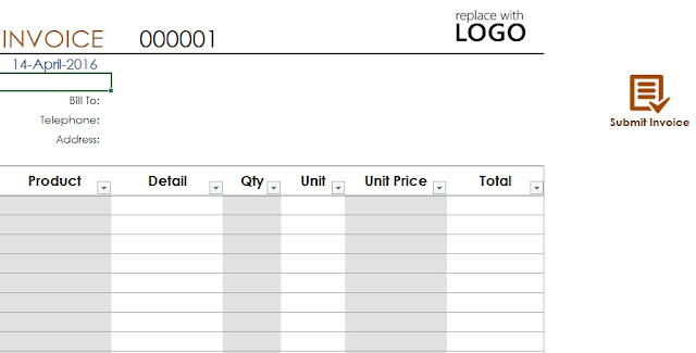 Invoice Template format