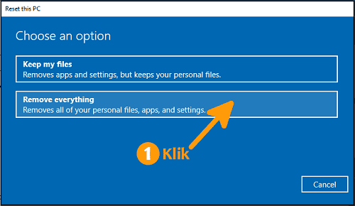 Cara reset Windows 10 Remove everything