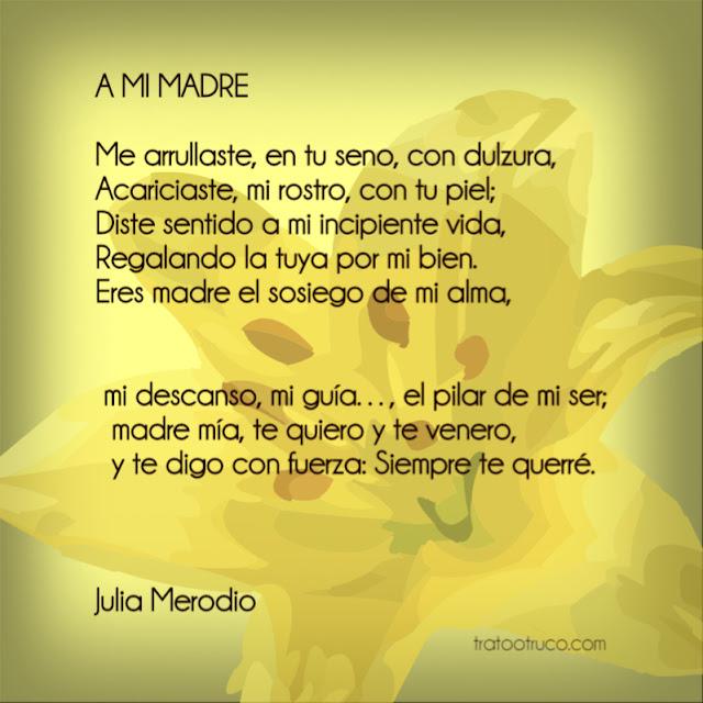 Día de las madres: poema a mamá