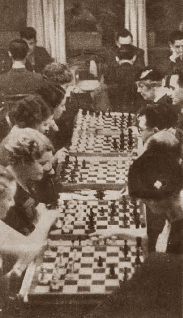 Inauguración de los nuevos locales del Club Ajedrez Ruy López en febrero de 1936