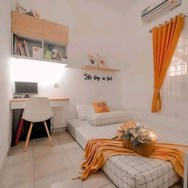 Desain Interior Kamar Tidur Minimalis Ukuran 3×3 Terbaru