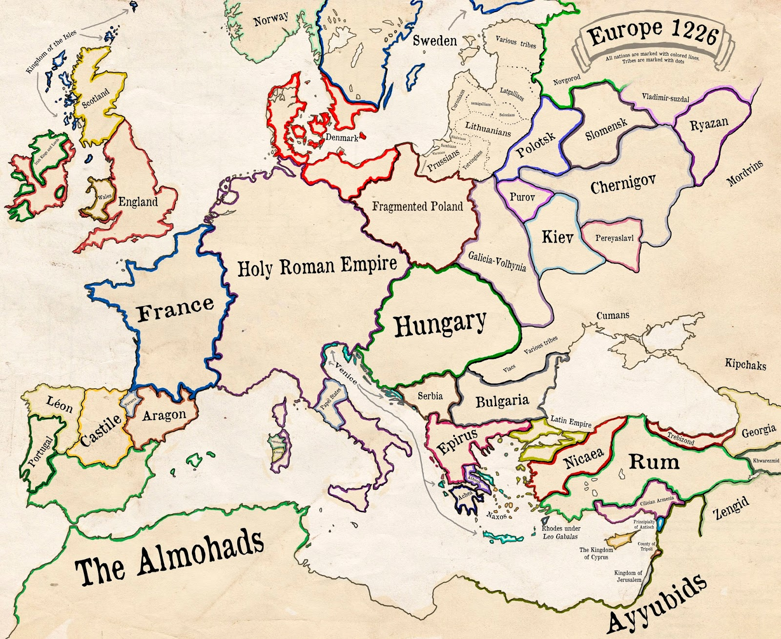 Europe in 1226