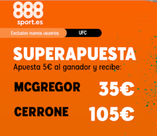 888sport superapuesta UFC McGregor vs Cerrone 19 enero 2020
