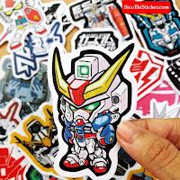 Sticker siêu nhân gundam