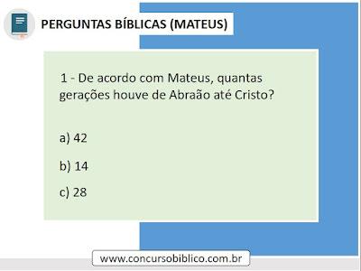 Perguntas Bíblicas Mateus
