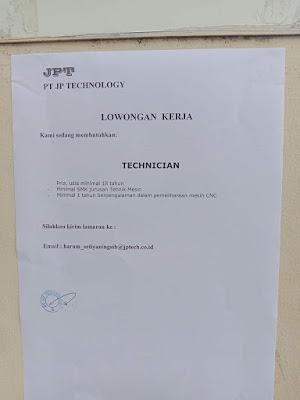 Kerjabatam.com PENGUMUMAN RESMI LOKER PT. JP Technology