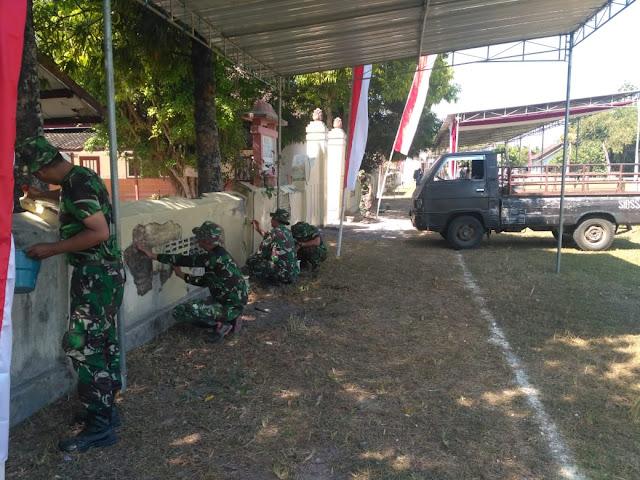 Lapangan Tri Murti Disiapkan Untuk Pembukaan TMMD Reg 105 Kodim Klaten