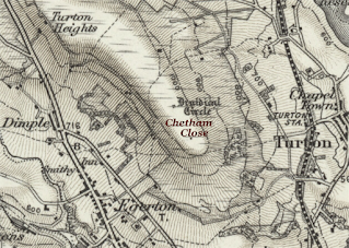 Map showing Chetham Close