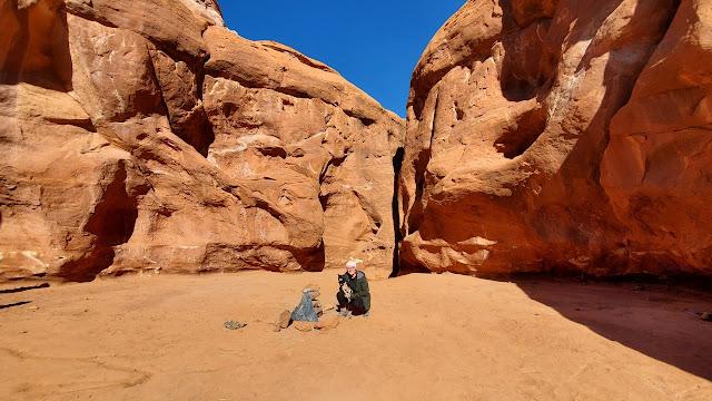 """Monolito retirado del desierto del sur de Utah por """"desconocidos"""", noviembre de 2020"""