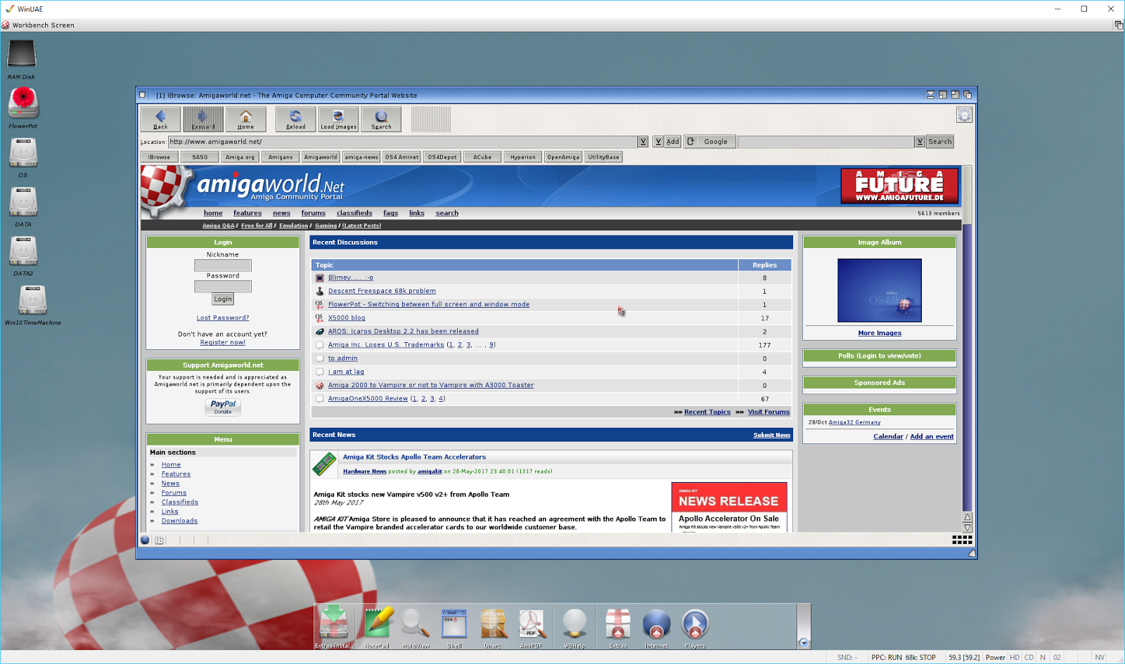 amigaos 4.1 final edition classic iso download