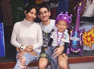 Max Holloway With Ex Wife Kaimana Pa E Aluhi And Son Rush Holloway