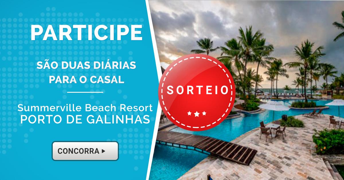 Promoção: Ganhe um fim de semana espetacular no Summerville Resort, em Porto de Galinhas