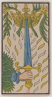 Ace of Swords, Tarot de Marseille, Public Domain