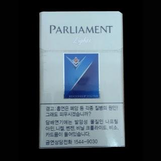 thuốc lá paliament light blue Hàn Quốc