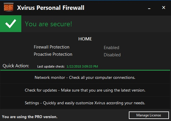 Free Firewall Xvirus Personal Firewall Pro 4.5 with License Serial Key