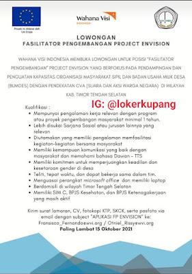 Lowongan Kerja Wahana Visi Indonesia Sebagai Fasilitator Pengembangan Project Envision