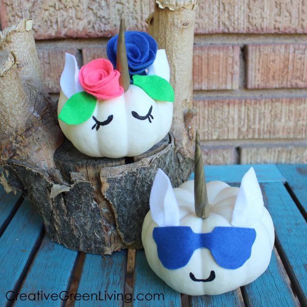 Easy DIY Halloween Unicorn pumpkin crafts