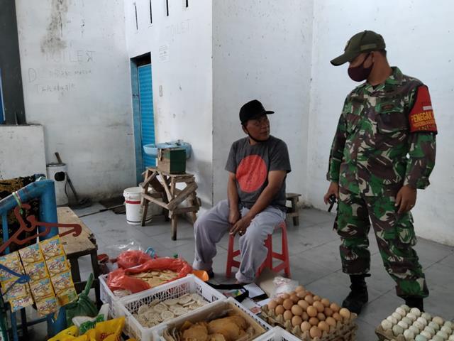 Ops PPKM Skala Micro Dilakukan Personel Jajaran Kodim 0207/Simalungun Diwilayah Binaan