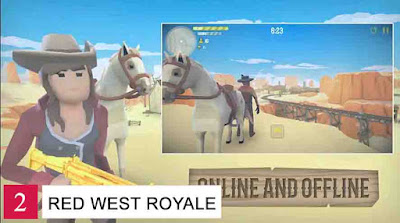 Game Battle Royale Offline Android Red West Royale